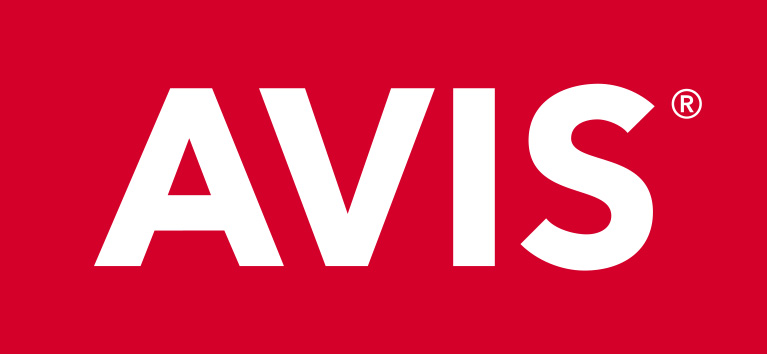Avis Logo_RGB_White on Red